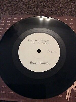 "Elvis Costello - From a Whisper to a Scream 7"" White Label Test Pressing - MINT"
