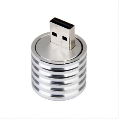 1PCS 3W Aluminum USB LED Light Lamp Socket Spotlight Flashlight White Light