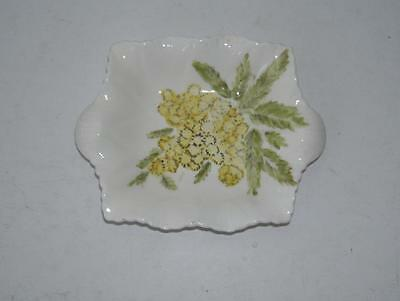 Small Shelley Dainty White Over Painted Small Dish.