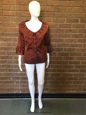Vintage Burnt Orange Embroidered Dress Jacket Size 16