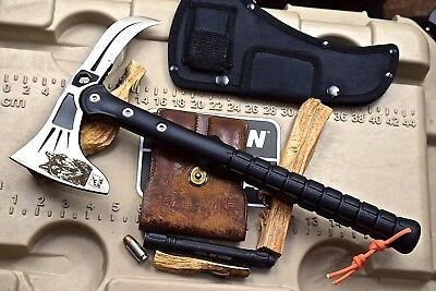 CFK iPak Custom CNC Tactical Stainless Axe ABS Handle Tomahawk EAGLE-CLAW Knife