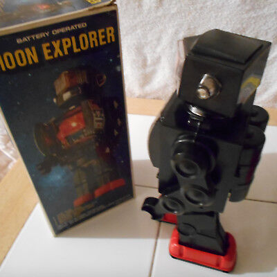 vintage moon explorer robot battery operated with box