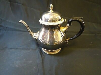 Vintage style silver plated tea pot
