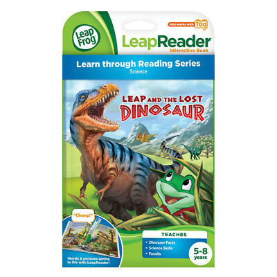 LeapFrog LeapReader Tag Book Leap and the Lost Dinosaur - NEW