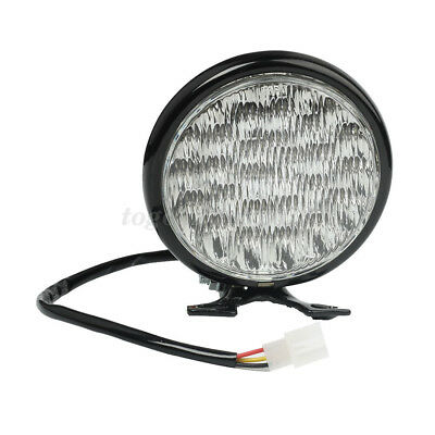 "Motorcycle Motorbike 5"" 30 LED Headlight Round Headlamp Clear Lens Universal 12V"