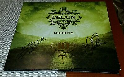 Delain Lucidity 10Th Anniversary Limited Gold 2Lp Vinyl Signed Sold Out