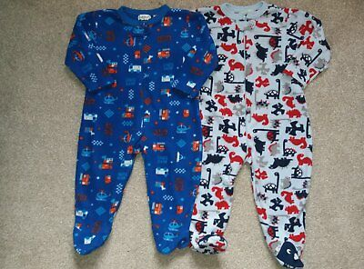Boys fleece sleepsuits size 18-24months