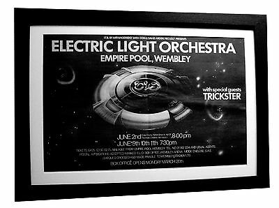 Electric Light Orchestra+Elo+Live+Poster+Ad+Original 1978+Framed+Fast World Ship