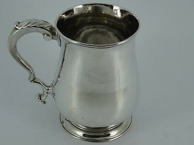 Georgian George Iii Solid Sterling Silver Christening Mug Tankard London 1771
