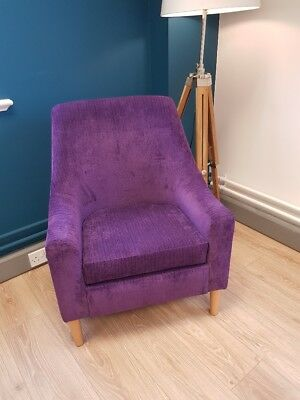 Mid Back Rona Chair with Purple Fabric