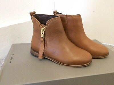 Girls Next Tan Leather Boot Size 9