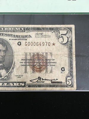 Series 1929 Fr.-1850-G Star Note Federal Reserve Bank Note
