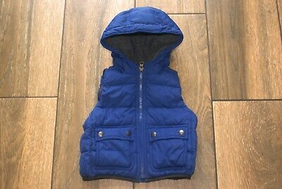 GAP boys blue padded fleece lined gilet, 12-18 months, excellent condition