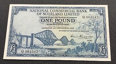 1959 national commercial bank of Scotland £1 note