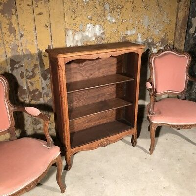 Antique French oak bookcase with adjustable shelves
