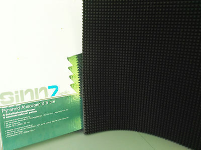 Acoustic Sound Absorbing Foam Panels - 500mm x 500mm x 25mm pack of 4 tiles