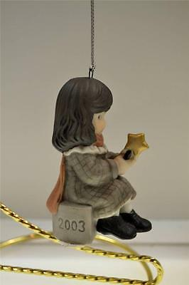 Kim Anderson PAAP ORNAMENT DATED 2003 Girl Holdg Star.112228 in BOX FREEusaSHIP