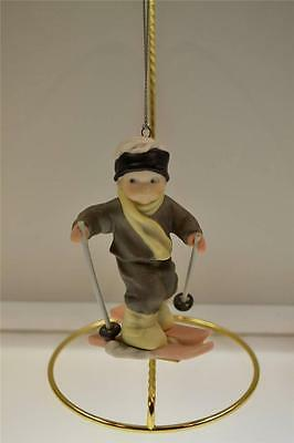 Kim Anderson PAAP ORNAMENT Boy on Skis 376000 in BOX FREEusaSHIP