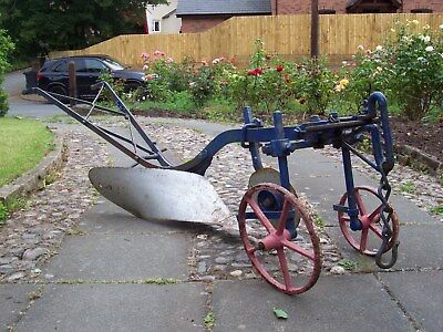 Vintage plough. Ransomes 'R H B' Ipswich