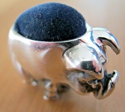 Novelty Edwardian Style Hallmarked Sterling Pig Silver Pin Cushion