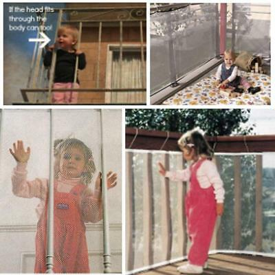 Baby Safety Net Mesh Kid Child Pet Indoor Balcony Stairway Protection Gate 2/3M