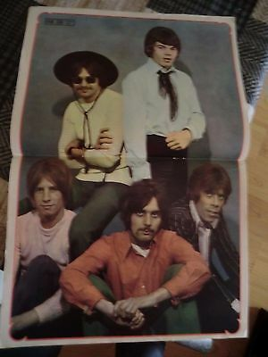 Fabulous 208 magazine with STATUS QUO Old poster, from 1968