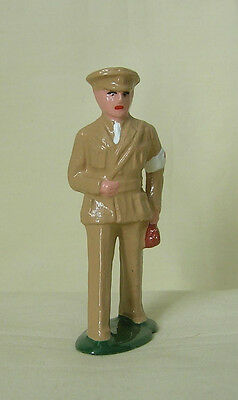 Army Doctor in khaki with medical bag, Standard Gauge train figure, Reproduction