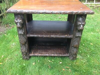 Quirky Antique carved Side Table