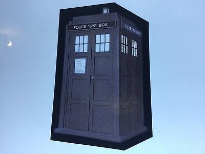 Hand Painted Kiln Fired Stained Glass Dr Who Tardis.