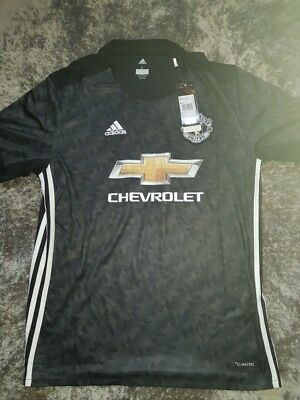 signed manchester united 17/18 seaaon squad shirt with coa