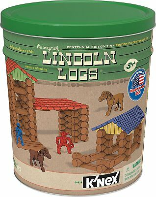 LINCOLN LOGS – Centennial Edition Tin – 153 Pieces – Ages 3+ – Preschool Toy