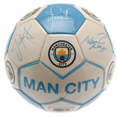 Manchester City FC Official Players Signatures Football Full Size 31 Panel Gift