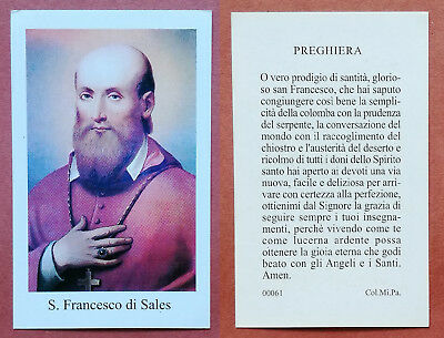 Santino Holy Card: S. San Francesco di Sales