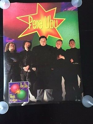 """Pere Ubu """"worlds In Collision"""" Very Rare1991 Promo Poster Mint Condition 18""""x24"""""""