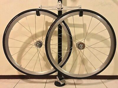 Track wheelset clincher. Easton, DT Swiss, BDW (Phil Wood copy), Tufo. 20 hole