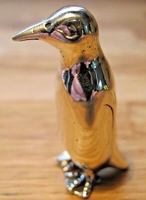 Beautiful English Hallmarked Sterling Silver Large Miniature Penguin