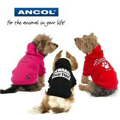 Ancol Dog Puppy Warm Fashion Jumper Hoodie Unisex Bright Bold Dogs Sweater