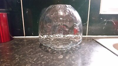 """Vintage Antique Clear Glass Oil Lamp Shade 4"""" Fitting"""