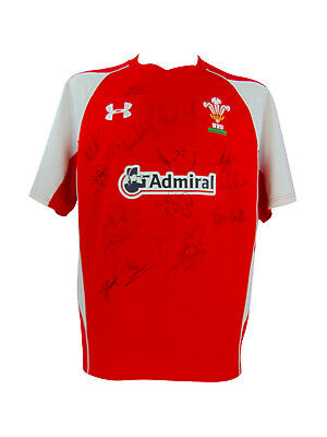 Wales Rugby Signed World Cup Semi Finalists Shirt 2011 + *coa*