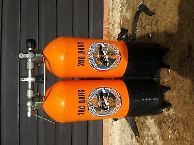 Diving Twinset Cylinders 200 Bar  Each * NOT TESTED *