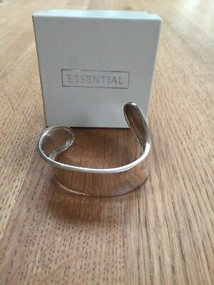Essential Jewellers Sterling Silver Bangle, New, RRP £45