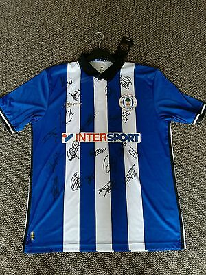 Signed Wigan Athletic Shirt. Brand New Shirt. Signed by 2016 Squad. Adults XL.