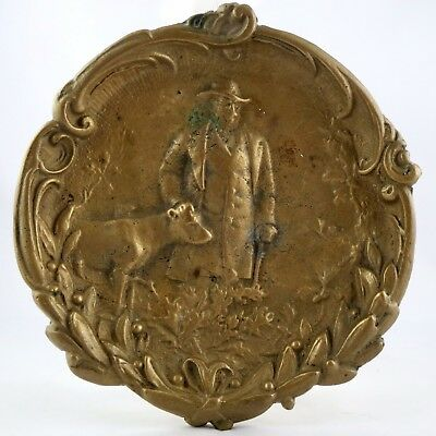 "Ancien VIDE-POCHE Coupelle en Bronze ""Le Berger"" Art Nouveau/max le verrier..."