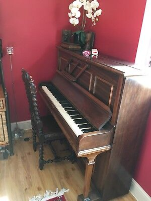 Upright Brown Wooded Piano - Full size