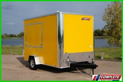 IN STOCK 7x12 Single Axle Enclosed Vending Concession Trailer