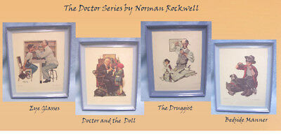 Norman Rockwell Framed Decorated Collectible Prints Pictures -THE DOCTOR SERIES