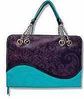 Bible Cover-Purple Wave-Large