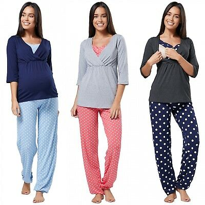 Zeta Ville - Women's maternity breastfeeding layered pyjamas pregnancy - 060c