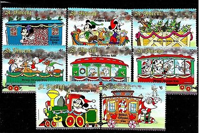 St.Vincent:1988:Disney,Christmas Train,Set & 2 Min/Sheet's.L.M.Mint.