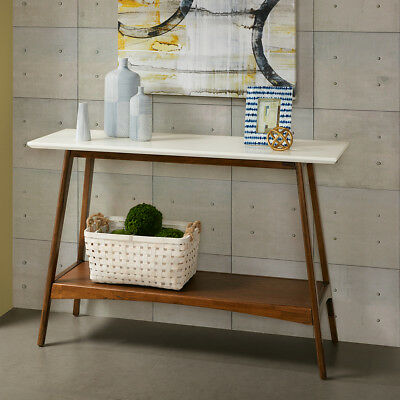 MID CENTURY CONSOLE Table Modern Wood Contemporary Entryway Sofa ...